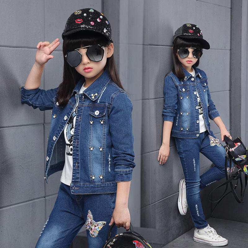 new korea style fashion kids designer clothes girls popular spring children clothes 2020