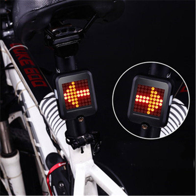 Smart Mountain Bike Waterproof USB Powerful Bicycle Led Light Bicycle Accessories Warning Bike Tail Light