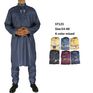 2020 New Shining Africa Muslim Men Cloth Thobe With Pants