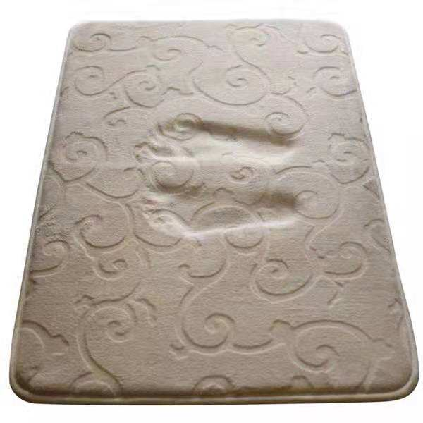 highly absorbent Nonslip Custom Size Flannel Memory Foam Bathroom Mat