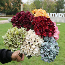 High quality hydrangea artificial Silk flower Photographic props outdoor home garden decor Decorative+Flowers