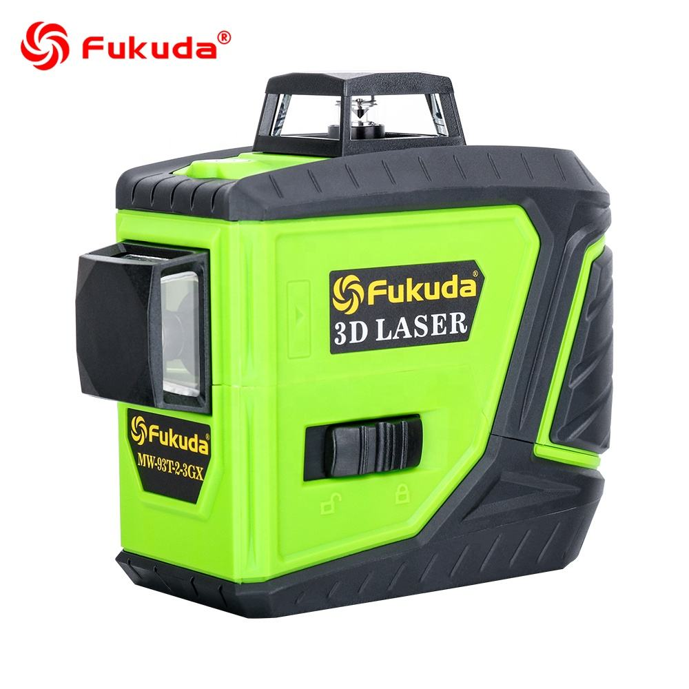 Automatic self leveling 360 Rotating rotary 3D Nivel laser multi cross line red Green beam laser level 3d 12 lines meter machine