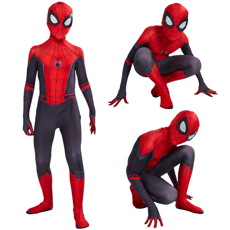 Classic Kids American Hero Spiderman Cosplay Costume For Party Men