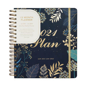 Rose Gold Spiral Personal Agenda, 2021 Planners and Notebooks