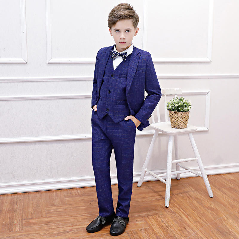 Boys Suits Slim Fit Wool Warm Formal Suit Dresswear for Wedding Thanksgiving Suits Set