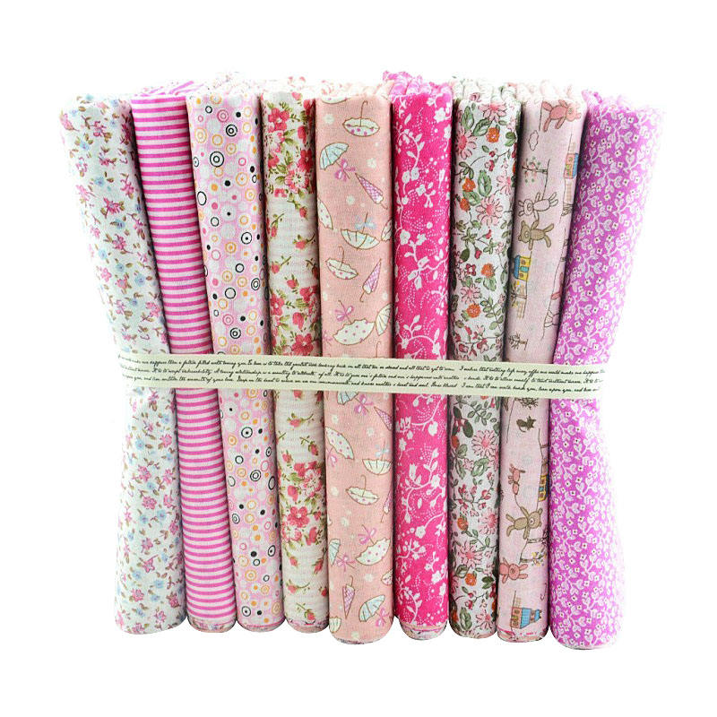 Wholesale fat quarters 100 cotton printed fabric textile for DIY crafts tissue patchworK 50*50CM