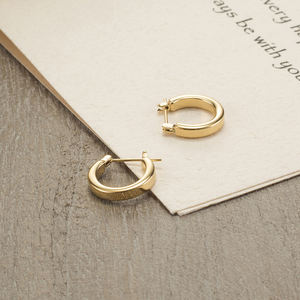 Custom women 금 plated stainless steel earring
