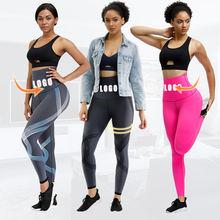 Hip Enhancer 3D Printed High Waisted Women Gym Yoga Seamless Leggings Fitness Yoga Pants