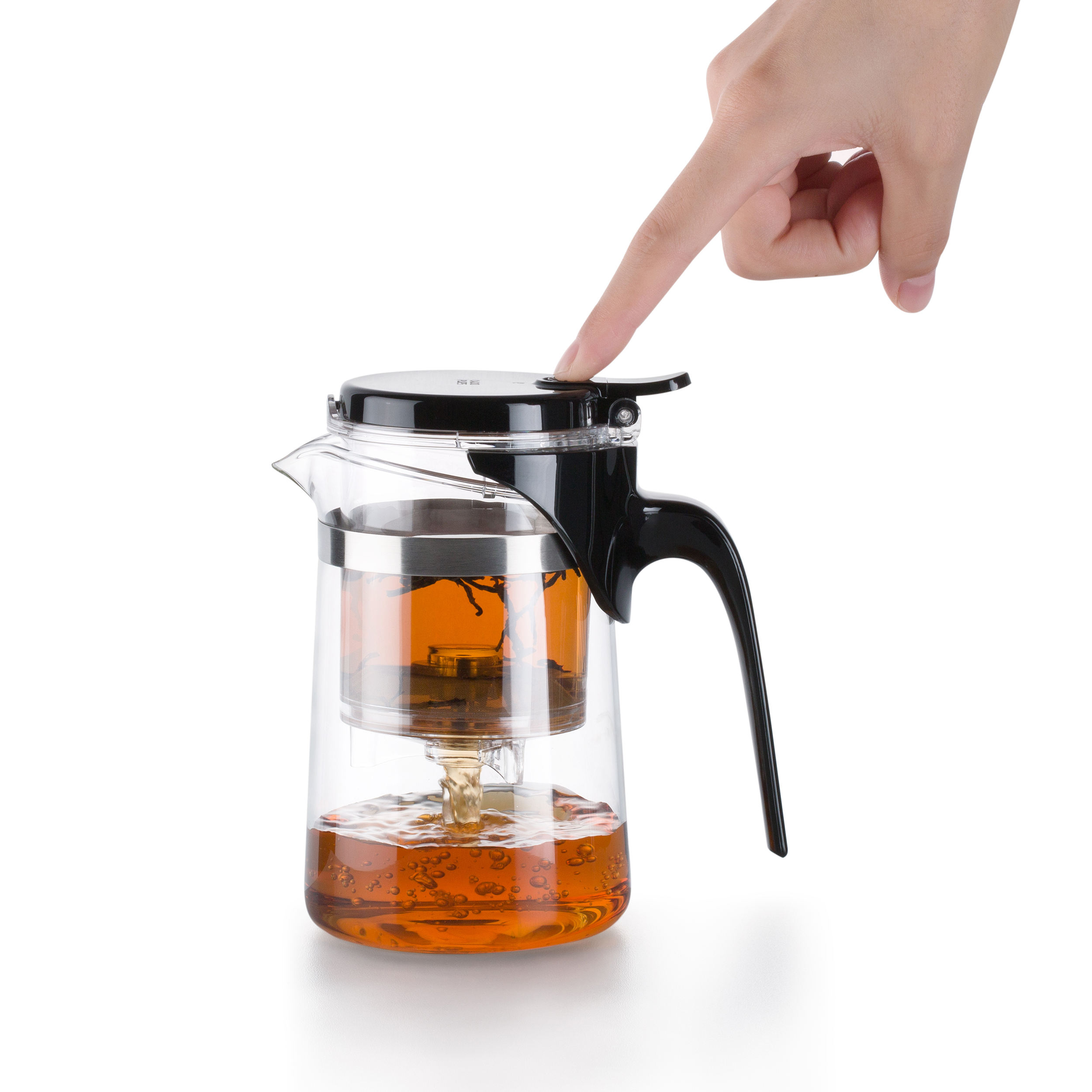 Samadoyo integrated glass tea pot with infuser for easy tea making