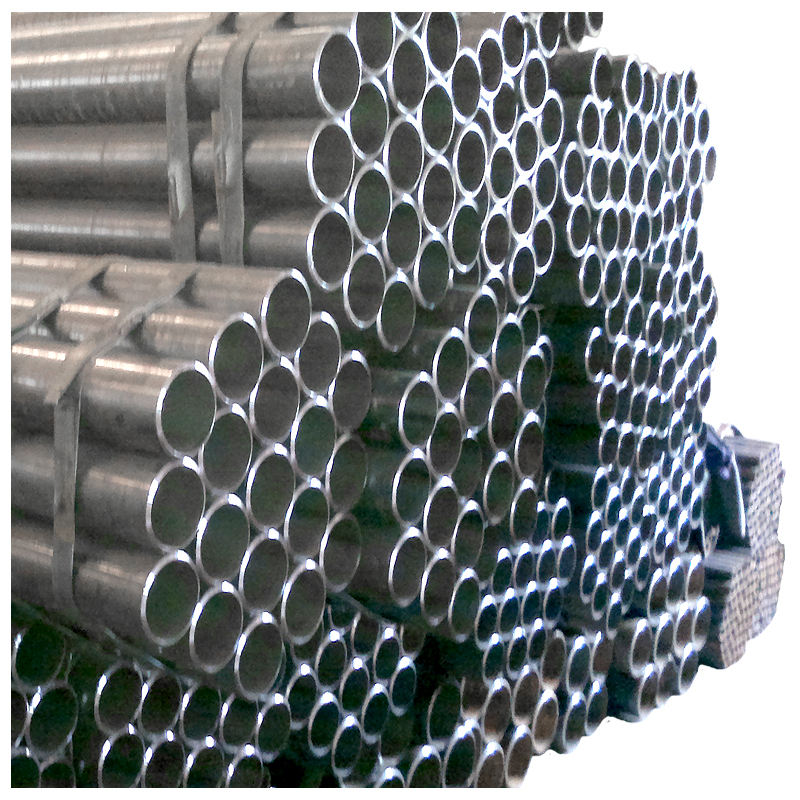 ASTM A53 sch40 erw steel welded pipe / mild ms black carbon erw steel pipe standard length manufacturer