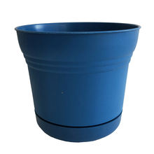 Factory supply blue planter round plastic garden pots