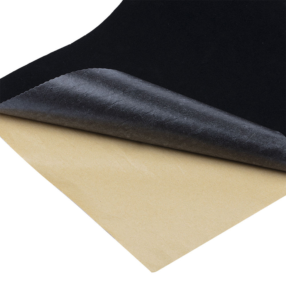 china black nonwoven self adhesive flocking velvet fabric supplier for funiturer