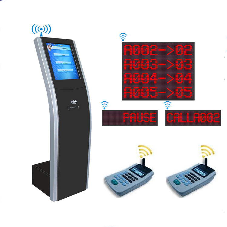 17'' Wireless electronic bank queue ticket dispenser