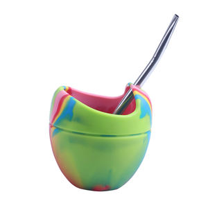 Amazon hot sale Silicone Yerba Mate Tea Cup With #304 Stainless Steel Straw