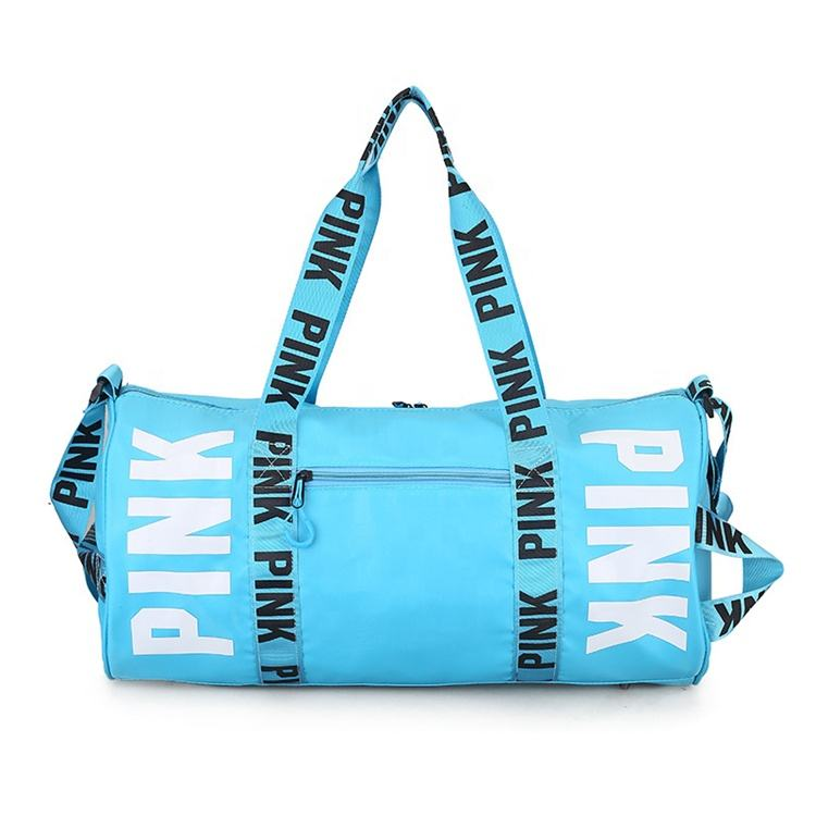 2020 Fashion women girl Outdoor Activities travel sport pink tote beach duffle bag hot pink bag