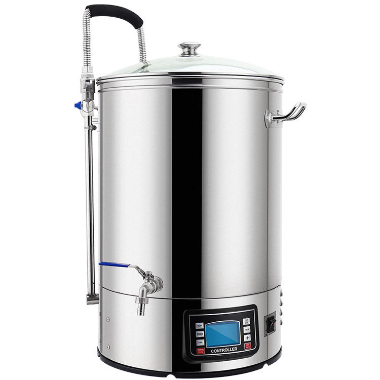 Stainless Steel 304 Home Brewing Beer Mash Tun 40L/60L Automatic all-in-one Microbrewery Guten System