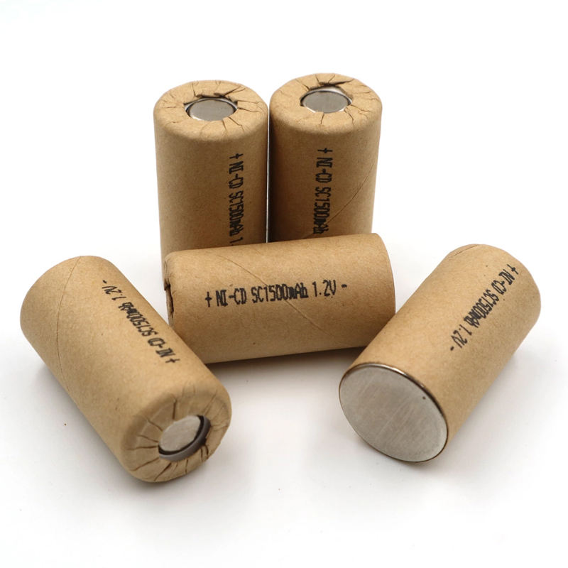 NI-CD SC 1500mah rechargeable battery 1.2v nicd sub-c batteries battery cell SC 1.5Ah 10C high discharge rate