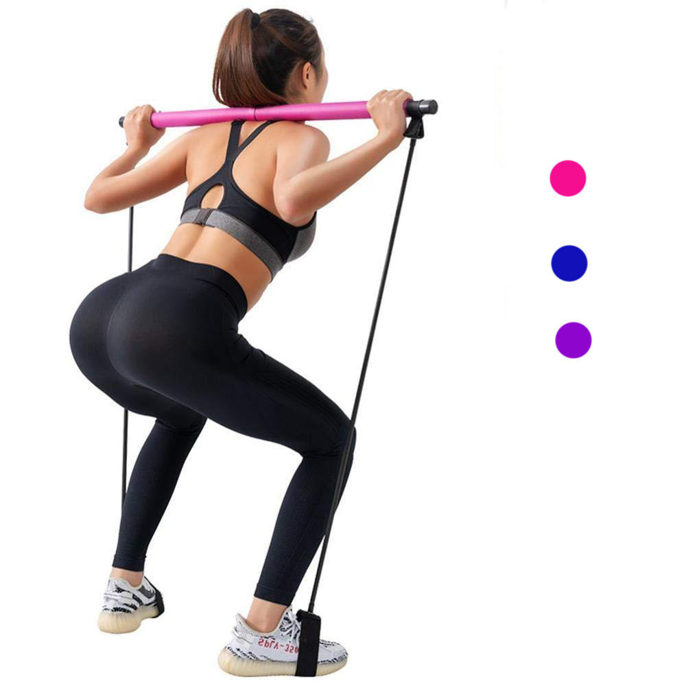 Tragbare Yoga Pilates Stick Pull-up Assisted Trainings stange Multifunktions Fitness Pilates Bar