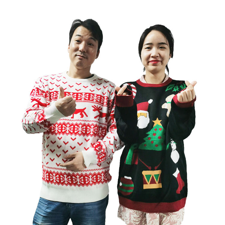 wholesale custom funny knitted christmas sweater ugly