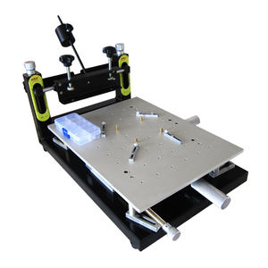 Puhui SMT PCB solder paste stencil screen printer machine manual high precision screen printing reflow soldering oven