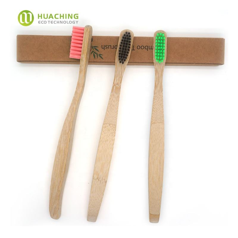 Huaching custom logo high quality eco-friendly bamboo products 2020 bamboo brush