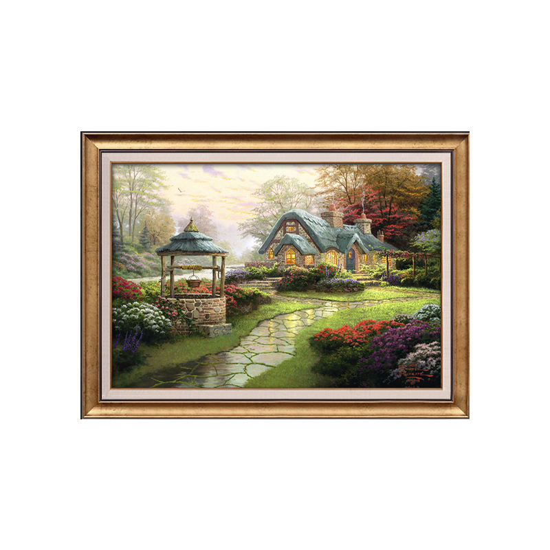 Oli painting on canvas hand painted countryside