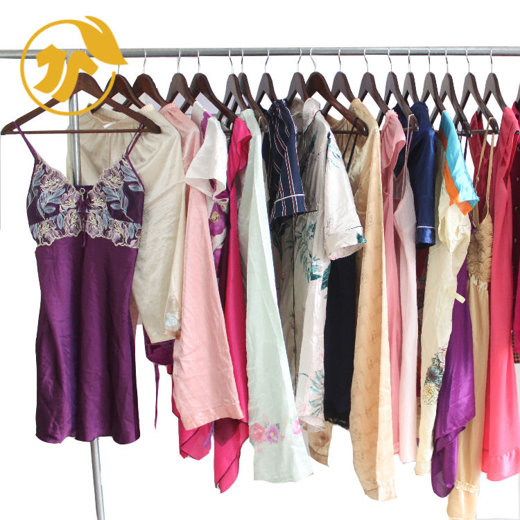 1 dollar used clothes of Silk Night Wear in China.