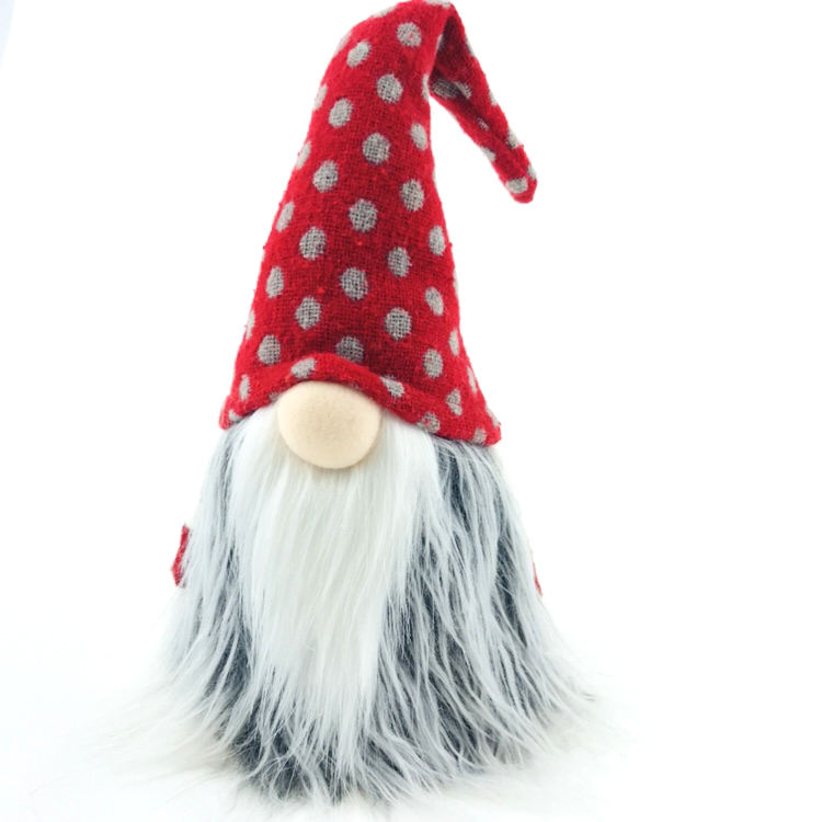 Handmade Swedish Scandinavian Tomte Nordic Elf Dwarf Lovely Plush Crafts Wholesale Standing Christmas Gnome