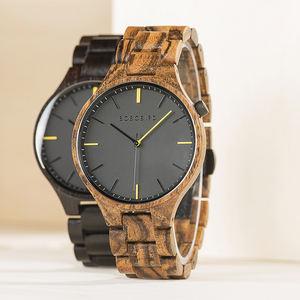 2019 BOBO BIRD Casual Vintage Men Wristwatch Wooden Minimalist Watches