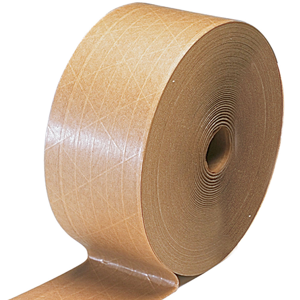 50m x 50ミリメートルHigh Performance Flatback Tape 60gsm Self Adhesive Kraft Paper Tape