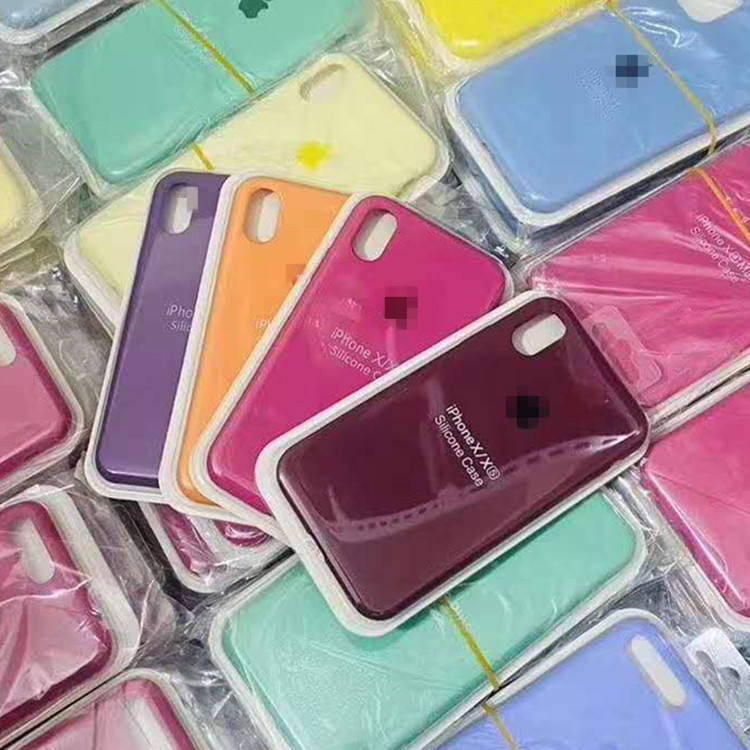 52 colors Liquid Silicone Rubber phone cover for iPhone case