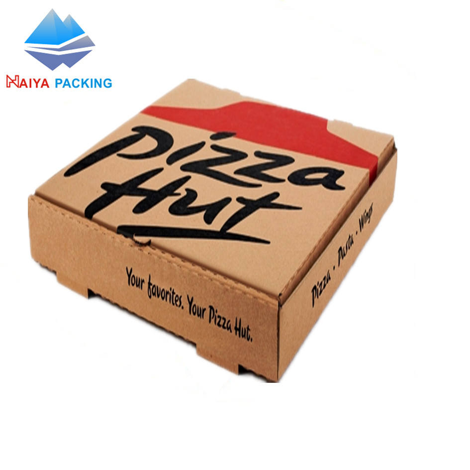 Custom Carton Pizza Box 9 Inch Pizza Delivery Box For Scooter