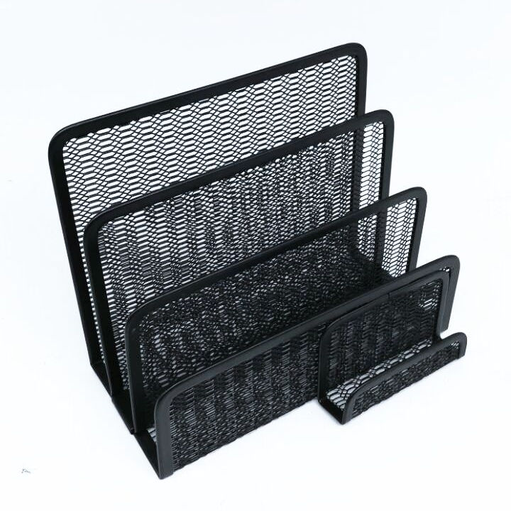Wholesale High Quality Metal Mesh Office 3 Compartments Letter Holder Tray for Desk