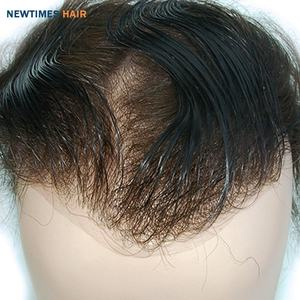 newtimes hair extra light density V-looped super thin skin human hair replacement men toupee