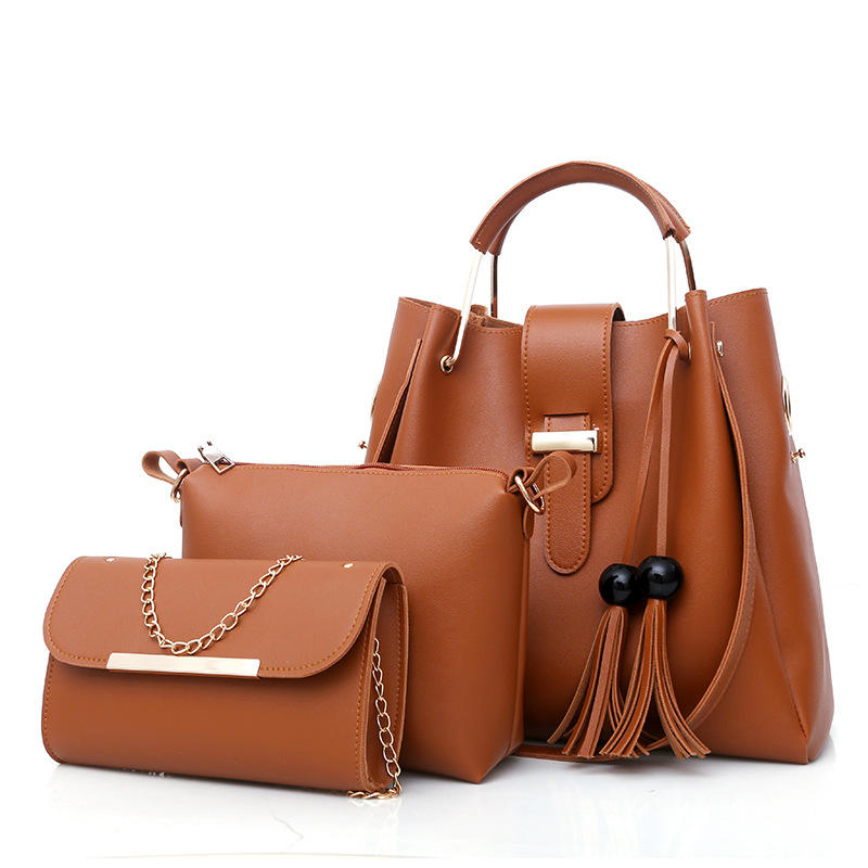 New arrival high quality PU leather cross body handbags ladies luxury sets bags