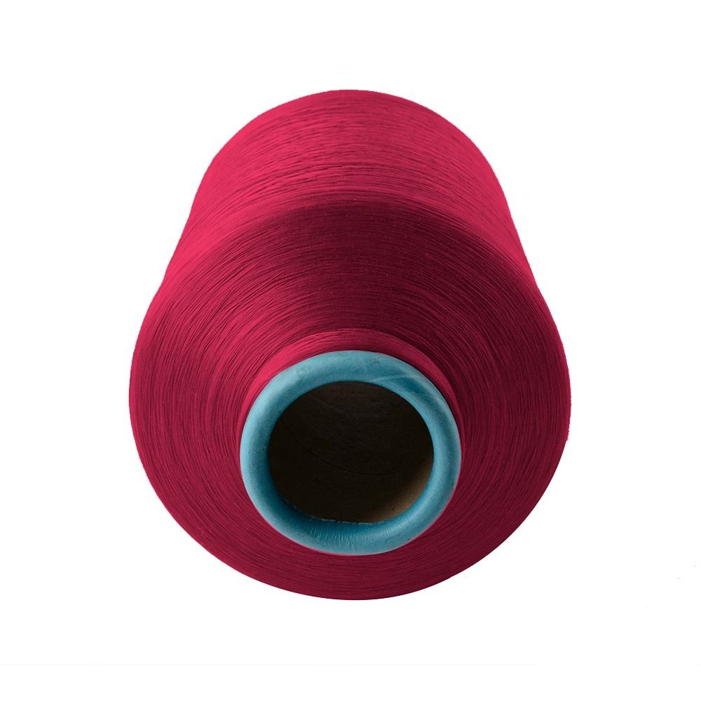 Free samples industrial colorful spun polyester yarn dty stock lot