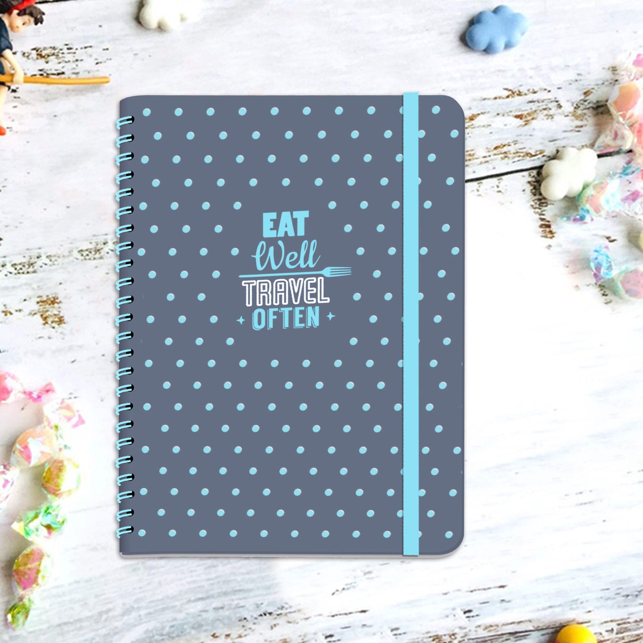 Promotional Notebooks Dot Art Style Fresh Notebook Water Drop Uv Effect Stationery 157 Gsm Cheap Notebook