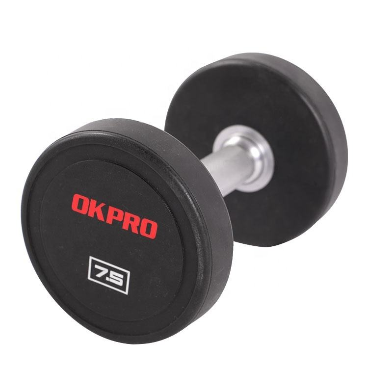 Comercial de Fitness Dumbbell Set China Rodada PU Dumbbell 20LB