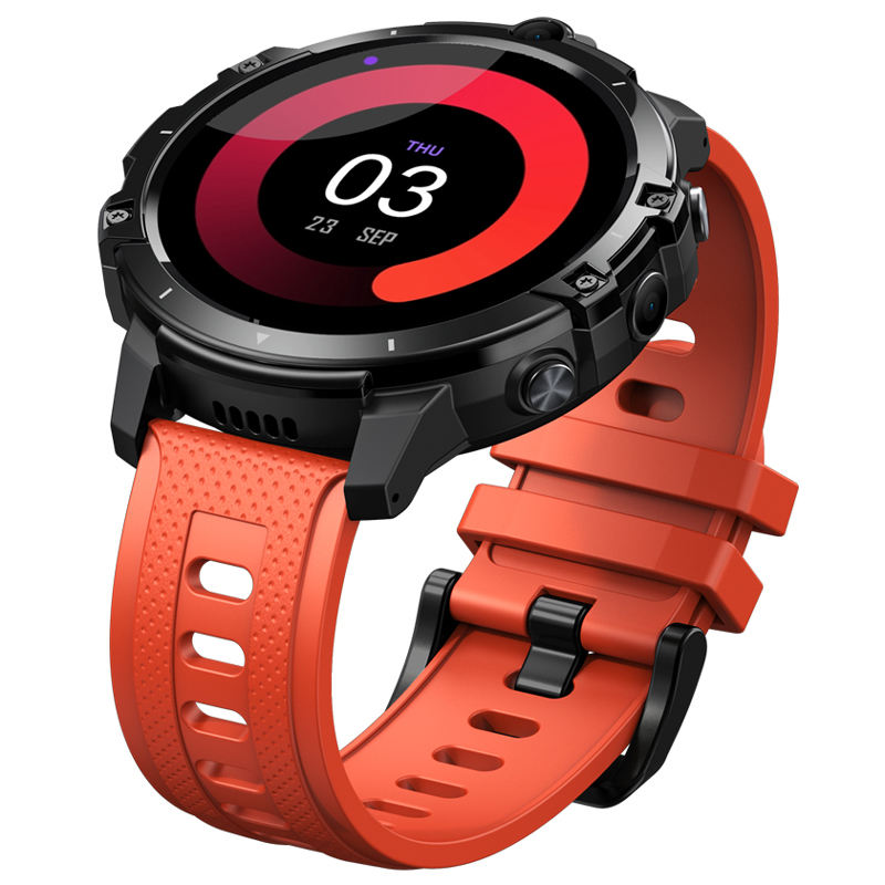 New zeblaze thor 6スマートウォッチandroid10 4gb 64gb helio p22 octa core processor face unlock 4g lte global bands smartwatch phone