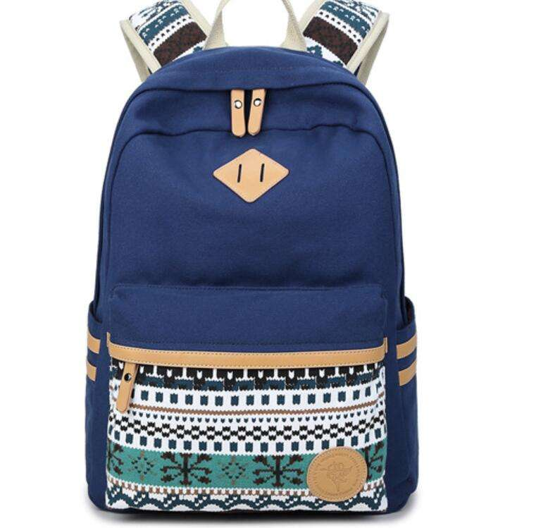 OEM/ODM Canvas Casual Large Capacity School backpack