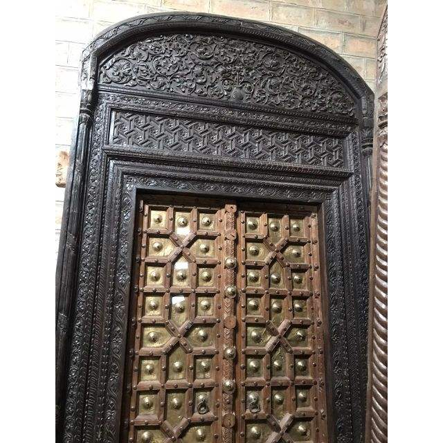 OLD INDIAN FRONT DOOR ANTIQUE CARVED DOOR