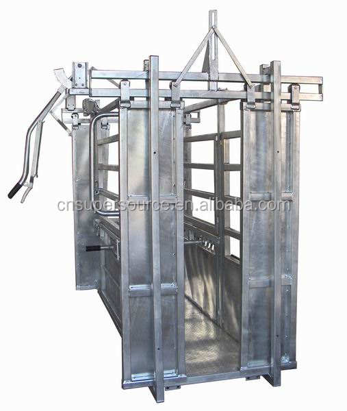 New Design Standard Heavy Duty Galvanized Cattle Crush / Cattle Handler with Scales