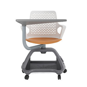 Classroom Student Chair Study Training Chair With Writing Pad Tablet Arm