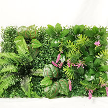 hight quality Artificial Plant Greenery turf grass wholesale indoor decor glass wall backdrop