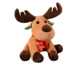 2020 Xmas Gift Elk Plush Deer Toy With Red Ribbon Cute Soft Reindeer Christmas Moose Stuffed Animal Plush Toys