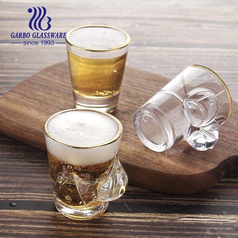 Drinking Glass Promotion Wedding Souvenir Tequila Glasses Custom Logo Mini 2oz Wine Bullet Vodka Soju Spirit Small Drinking Shot Glass