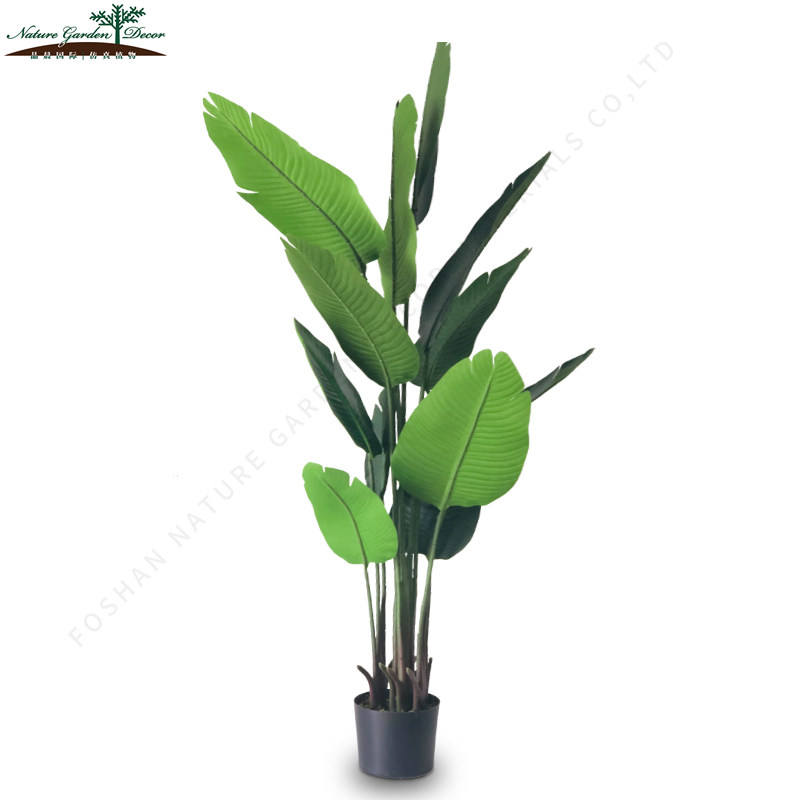 Cheap Traveler Office Decor Plants Made by Wood Artificial Small Banana Tree