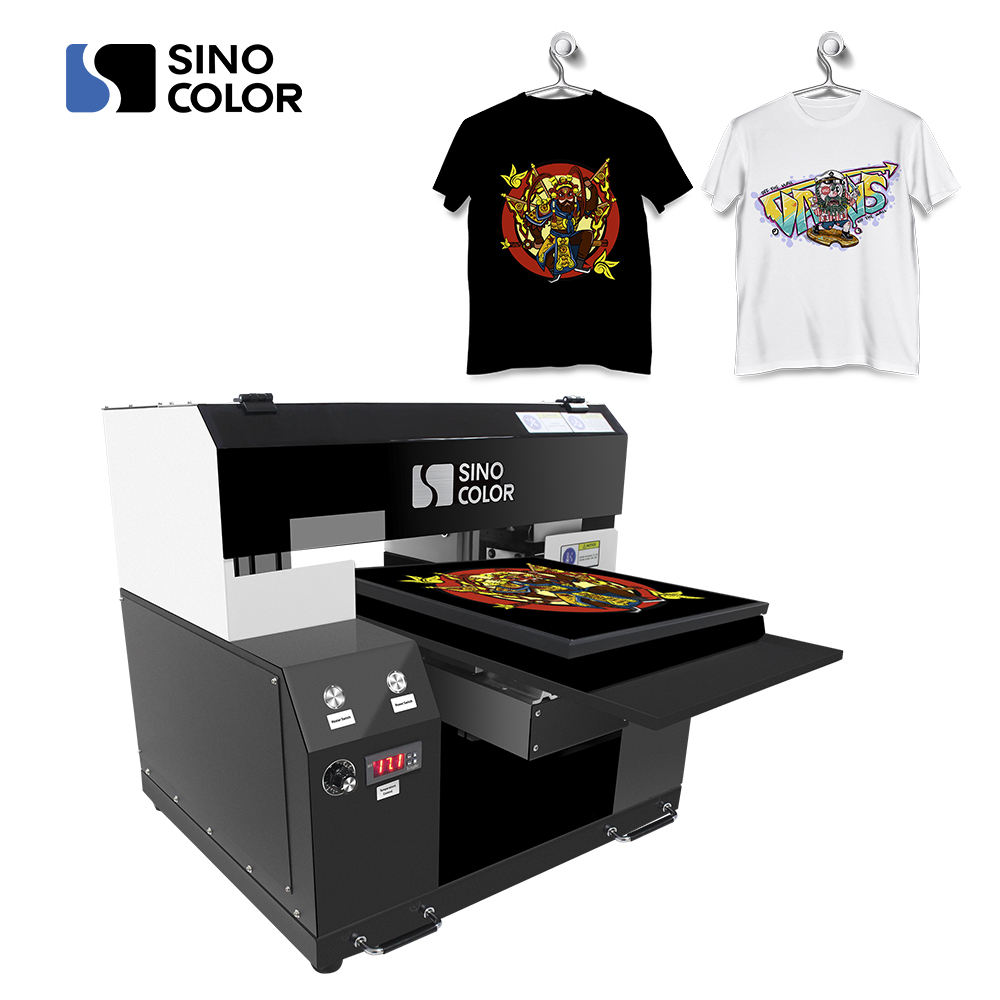 China Made Factory Direct Sale A3 Size Two Heads Fast DIY Digital Direct DTG Printer For Any Color Tshirt
