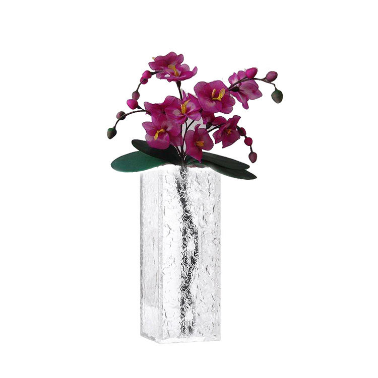 Home Decoration Table Top Small Acrylic Square Flower Vase