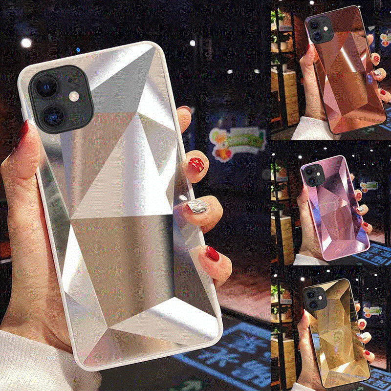 Laudtec 3D Diamond Glitter Mirror Laser Mobile Phone Case For iPhone 12 Pro Max